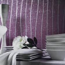 purple and grey stripped bedromm wallpaper - Google Search Grey Wallpaper, Bedroom Ideas, Curtains, Google Search, Purple, Home Decor, Blinds, Grey Bedroom Wallpaper, Dorm Ideas