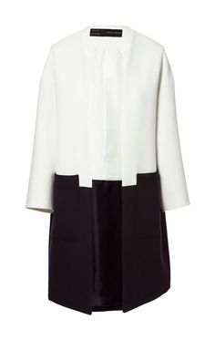Zara's monochrome combined coat
