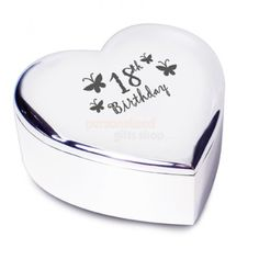 Butterfly Heart Trinket - 18th Birthday from Personalised Gifts Shop - ONLY  £10.95 Engraved Gifts 7383781a8ba6a