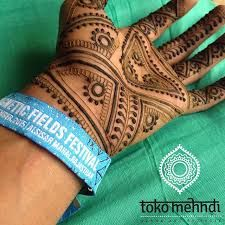 Male henna design by Toko Mehndi