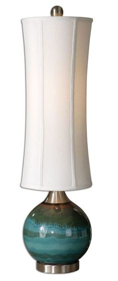 Uttermost 29287-1 Atherton Lamp Glossy Blue Lamps Table Lamps
