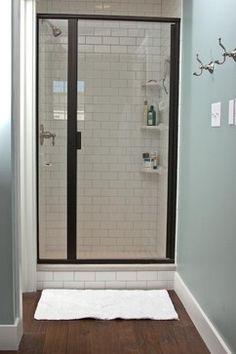 Master Shower craftsman bathroom