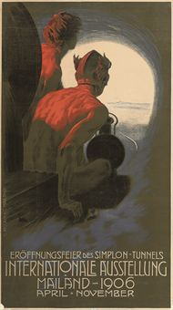 Internationale Ausstellung Mailand, 1906. Vintage poster Richard found in London.