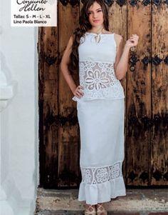 vestidos bordados de cartago - Buscar con Google Beautiful Dresses, Nice Dresses, Formal Dresses, Wedding Dresses, Wedding Day Wishes, Frocks, Casual Chic, Peplum Dress, White Dress