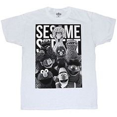 Sesame Street Classic Group T-Shirt   Sesame Street Classic Group T-Shirt Let everyone know you grew up on the streets....that's right, Sesame Street! This Sesame Street adult t-shirt features all your classic Sesame Street characters in an awesome black and white group shot. This white, standard fit shirt is made from 100% cotton. Be sure to check out our Size Chart to get an idea of the average size and dimensions of this Sesame Street Classic Group tshirt style. Check back often f..