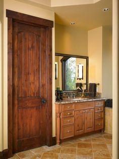 Apex Interior Door (Top Rail Arch, 2 Panel Plank, C2, Knotty