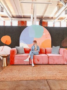 Portfolio — tiffany lusteg Colorful Couch, Shelf Furniture, Interior Decorating, Interior Design, Stage Design, My Dream Home, Backdrops, Backdrop Ideas, Outdoor Decor
