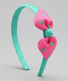 Take a look at this Delightfully Preppy Kids Green & Pink Madison Headband by Stocking Stuffers: Toys & Accessories on #zulily today!