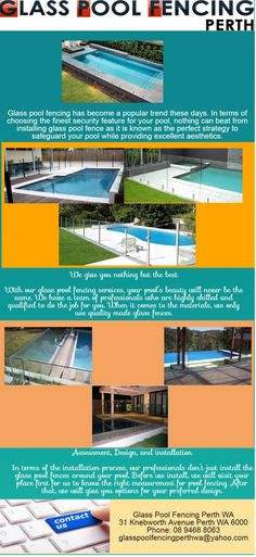We Best Glass Pool Fencing in Perth have a team of professionals who are highly skilled and qualified to do the job for you.  For services please visit us at 31 Knebworth Avenue Perth WA 6000 or Call us at 894688063.