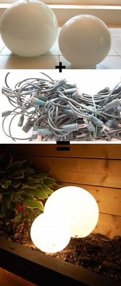 Glowing Outdoor Orbs - DIY Outdoor Lighting Ideas - Click for Tutorial