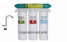 4 Stages #Alkaline #Purifier  In some of the cases reported that drinking Alkaline water may contribute to the cure of many diseases. Various studies can prove that alkaline water has positive effects on body.  The only filtration in the world today that will reduce acidity in the body and it will produce natural calcium, magnesium, sodium and potassium ions that can be absorbed 100% in the human body.  Acid wastes (from the lifestyles we lead - not only from food and drink, but also from…
