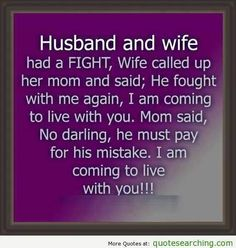 Marriage humor. Lol!