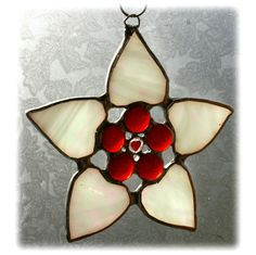 Flower of  Hearts - Stained Glass Suncatcher
