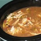 Six can Chicken Tortilla Soup - quick and easy, this recipe calls for cans of corn, chicken broth, chicken, black beans, and Ro-tel tomatoes. (Click through for the recipe.) food-recipes