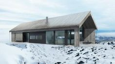 """Holiday Home """"Snøhetta"""" Metal Building Homes, Building A House, Residential Architecture, Modern Architecture, Barn House Conversion, White Farmhouse Exterior, Cottage Style House Plans, Bungalow, My Ideal Home"""