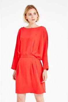 One-O-Eight Batwing-Sleeve Dress