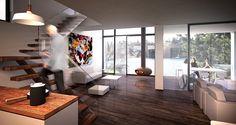 Bjornviksveien - interior Drawing Board, Cottage Ideas, Divider, Loft, Bed, Interior, Projects, Furniture, Home Decor