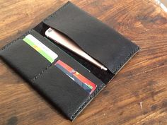 Phone wallet iPhone case with card wallet iPhone 6 leather