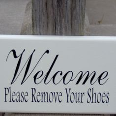 "A needed sign with style. A great whimsical sign to let others know of  your request.  Approx. Measurement: 9"" x 5.5""  Materials: Wood, Primer, Outdoor White Paint, Black Vinyl Lettering, Saw Tooth Hanger"
