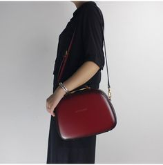 Genuine Leather Handbag Cube Shoulder Bag Satchel Bag Crossbody Bag Clutch Purse For Women