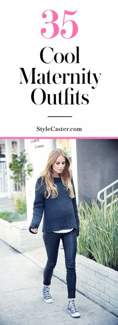 Pregnant Street Style: 35 cool maternity outfit ideas that prove you can dress the bump in style @stylecaster