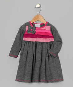 Gray Flower Corsage Dress - Toddler by Freckles + Kitty on #zulily #ad *wish they had our size, so cute