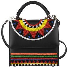 Les Petits Joueurs Alex Africa Mini Bag (€495) ❤ liked on Polyvore featuring bags, handbags, black, mini purse, mini handbags, miniature purse and mini bag