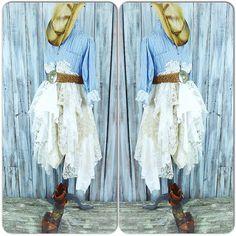Country chic dress Romantic Fall winter boho by TrueRebelClothing
