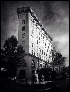 Flat Iron building, Asheville, NC.  Mark Charles Block.
