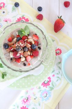 Chia Pudding with Seeds, Nuts and Berries