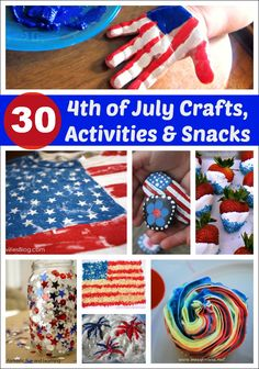 Thirty 4th of July Crafts, Activities and Snacks - so many ways to celebrate the 4th with kids!