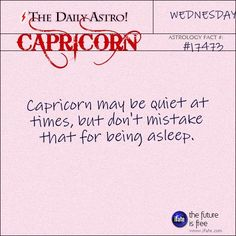 Capricorn Visit The Daily Astro for more Capricorn facts. There's more breathtaking astrological interactivity on the premier astrology and tarot website. All About Capricorn, Capricorn And Taurus, Capricorn Facts, Capricorn Quotes, Aquarius Daily, Leo Daily, Sagittarius Astrology, Astrology Signs, Zodiac Facts