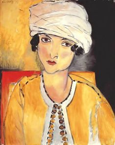 World Paintings — Henri Matisse Lorette with Turban and Yellow...