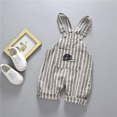 Summer Children's Clothing Boys Girls Cotton & Linen Suspenders Trousers 0-1234 Years Old Baby Children 1/2 Length Pant | Import-express.com