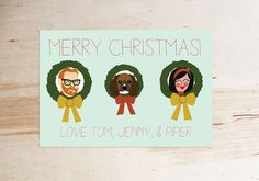 Custom Christmas/Holiday Card Illustration custom by yesdearstudio