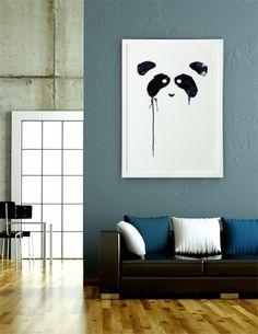 Panda Numbered Art Print by Tobe Fonseca
