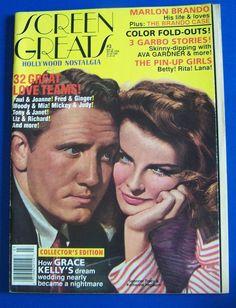 Hollywood Nostalgia Screen Greats Magazine Tracy Hepburn Kelly Brando Garbo  #DoesNotApply
