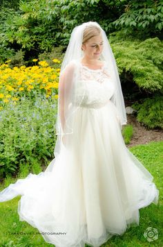 Plus Size Wedding Dress Silk lace and tulle by PureMagnoliaCouture