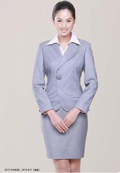 Fashionable Bank Uniform Office Lady Dress Women Suits Fashion