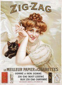 Poster by A. Belimbau - Zig-Zag le Meuilleur Papier a Cigare