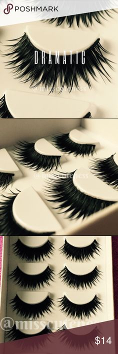 6 Pairs Dramatic Lashes!! New Full & Long Synthetic Lashes.  Ask if any questions. HAPPY POSHING   PRICE FIRM. Makeup False Eyelashes