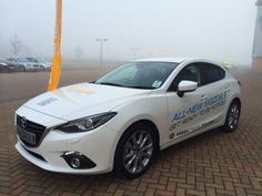 The all-new Mazda3 standing out at a foggy @Business Connected networking event.