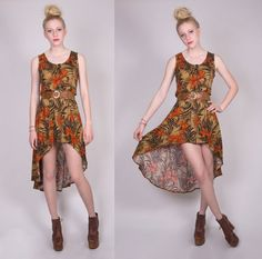 LPM Redesigned Vintage Floral High Low Dress by lapetitemarmoset