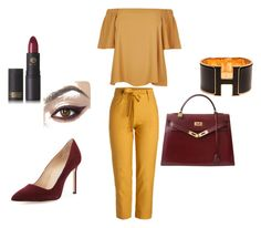 """""""Untitled #12"""" by munira-salihovic ❤ liked on Polyvore featuring River Island, Hermès, Manolo Blahnik and Lipstick Queen"""