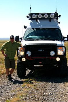 Sportsmobile Custom Camper Vans - 4x4 Lifestyle Photos & Letters...Aluminess Roof rack and front bumper...