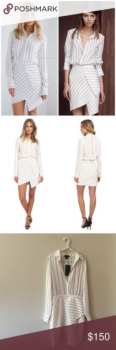 Stylestalker Black & White Striped Dress So stunning and perfectly on trend! Super figure flattering and perfect dressed up or down. Brand new with tags! No trades!! 011116300ctf Stylestalker Dresses