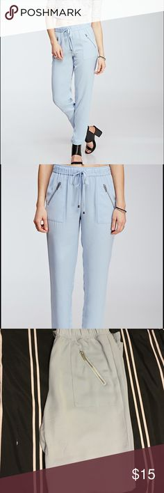 Forever21 | light blue pant Only worn twice, this Forever21 light blue pant is looking for a new home. Excellent condition, no stains or rips! Size small. Forever 21 Pants