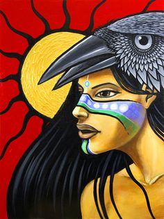 {speaking with 2 voices} Aaron Paquette, a descendant of the Cree and Cherokee, is a young artist with immense talent. Native American Artwork, Native American Artists, American Indian Art, Native American History, Native American Indians, Art Paintings, Watercolor Paintings, Painting Art, Southwest Art