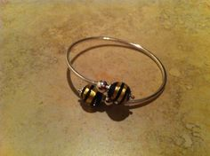 .925 Murano Glass Bracelet with variegated colors