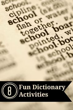 8 Fun Dictionary Act